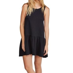 Free people Easy Street Black Mini dress NWT